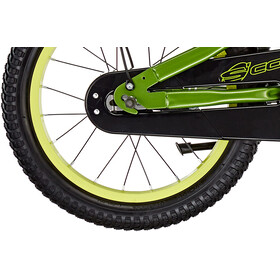 s'cool XXlite 16 Steel Børn, green/yellow